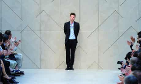 Fashion designer Christopher Bailey ackn