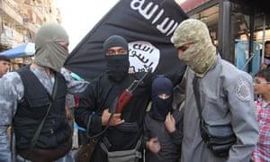 Militia fighters in Aleppo Syria