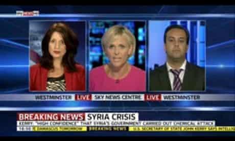 Rachel Shabi (left) on Sky News.
