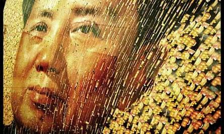 Artist David Mach's portrait of Chairman Mao