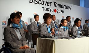 Officials from the Tokyo 2020 Olympic bid in Buenos Aires
