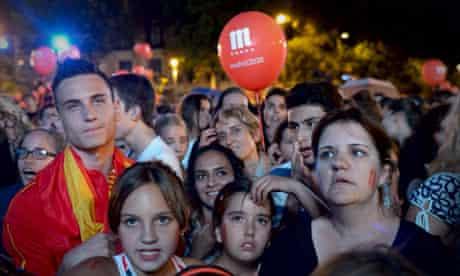 Madrid crowd Olympic decision
