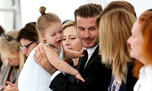 Haper Beckham at the Victoria Beckham fashion show,