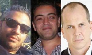 Arrested al-Jazeera journalists