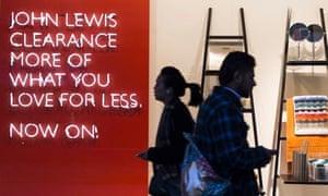 John Lewis sales in London