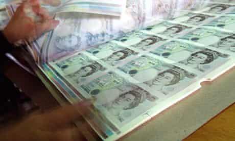 Bank of England money printing