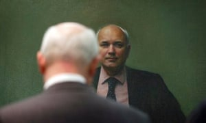 Former Conservative leader Iain Duncan Smith unveiling his new portrait at Portcullis House.