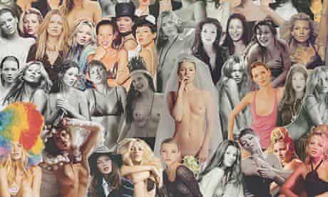 "Sir Peter Blake's painting ""Kate"" of Kate Moss"
