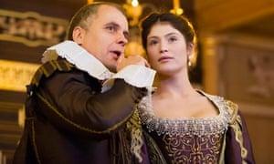 Gemma Arterton and Brendan O'Hea in The Duchess Of Malfi at the Sam Wanamaker Playhouse.