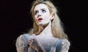 Lisa Dwan in Footfalls by Samuel Beckett at the Royal Court.