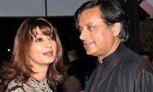 Sunanda Pushkar and her husband, Shashi Tharoor, in July 2012
