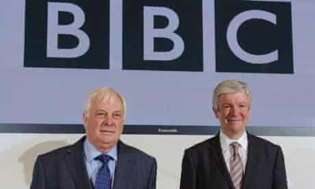 BBC Director General Tony Hall (right) and BBC Trust Chairman Lord Patten