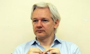 Julian Assange, pictured last June, was the guest on Thought for the Day.