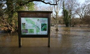 Floodwater from the river Mole
