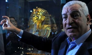Zahi Hawass at the Egyptian Museum in Cairo, Egypt, 2011