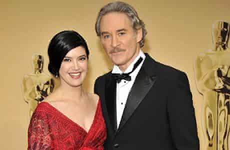 Kevin Kline with his wife