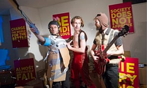Carlos Otero, Tom Frankland and Keir Cooper in Don Quijote at Camden People's theatre