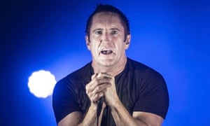 Trent Reznor of Nine Inch Nails on stage at Rock en Seine, in Saint-Cloud, France, in 2013.