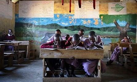 Children at Nkoilale primary school, Kenya