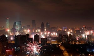 China New Year fireworks Beijing