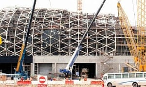 Migrant construction workers in Doha, Qatar 2022 world cup