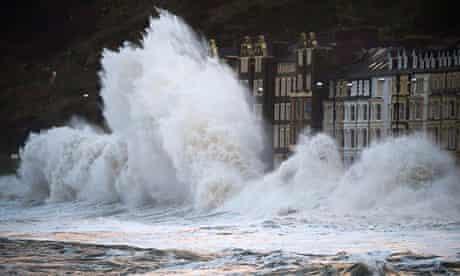 Storms waves Aberystwyth, Wales
