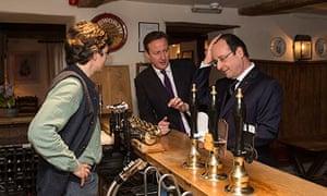 Francois Hollande, David Cameron