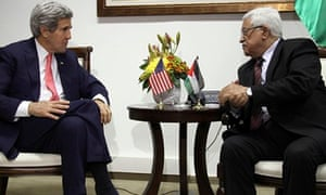John Kerry steps up efforts to coax Middle East leaders to peace deal