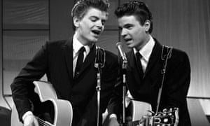 Phil Everly, left, and brother Don perform on ITV's Saturday Spectacular in 1960.