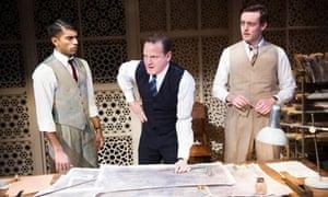 Drawing the Line, Howard Brenton, Hampstead theatre: Nikesh Patel, Tom Beard, Brendan Patricks