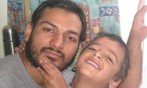 A family photo of Abbas Khan with his son, Abdullah.