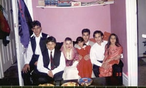 Abbas (far left) with his brothers and sisters in a family photo.