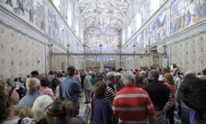 Sistine Chapel, full of tourists