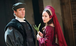 Ben Miles and Lydia Leonard in Hilary Mantel's Wolf Hall.