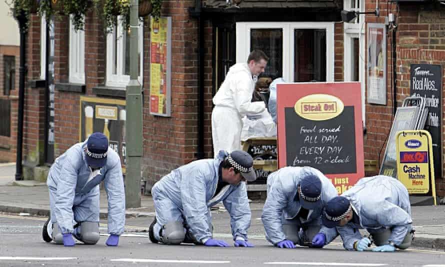 Police forensics Hale Lane