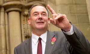 Jon Cruddas outside the Labour party's English regional cabinet committee meeting at Manchester town