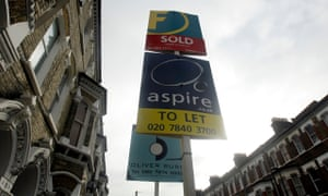 For sale signs outside London properties