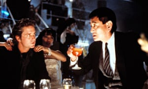 Ken Takakura, right, as a police officer, with Michael Douglas in Ridley Scott's Black Rain (1989).