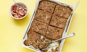 Yotam Ottolenghi's lamb and bulgur meatloaf with tomato and yoghurt salsa