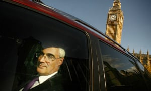 Alistair Darling leaving parliament in 2008 after attending prime minister's questions.