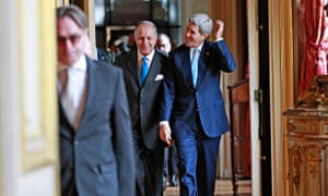 John Kerry, right, with Laurent Fabius, the French foreign minister