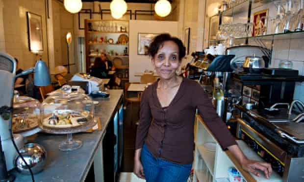 Shewa Hagos in the Blue Nile cafe, Woolwich