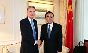 China UK foreign minister