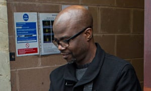 David Onamade arriving at court in Somerset