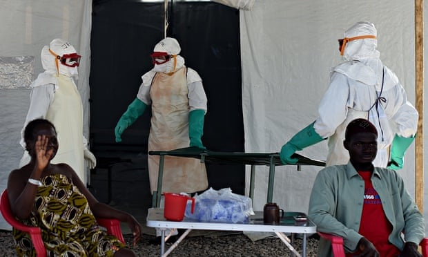 An Ebola treatment centre run by the Red Cross in Sierra Leone.