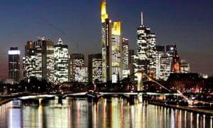 Skyline in Frankfurt, Germany