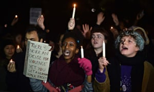 People protest in London against the killing of Michael Brown in the US