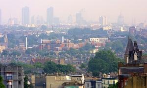 North London skyline