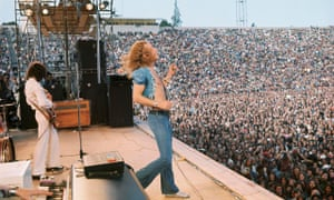 Led Zeppelin in concert in San Francisco, 1973