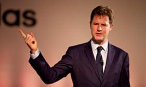 Nick Clegg pointing